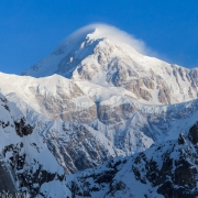 The complexity of the south east face of Denali.