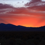 On the ride home from a great weekend in the City of Rocks we had one of the best sunsets I\'ve seen in a long time.