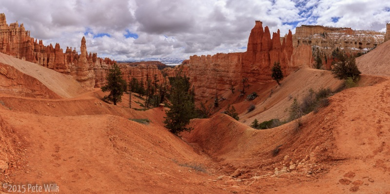 The trails in Bryce are quite moderate and well maintained.  Just about anyone could get around here.