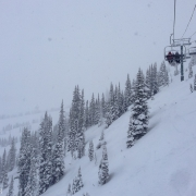 First run up Kicking Horse.  The conditions were pretty great.