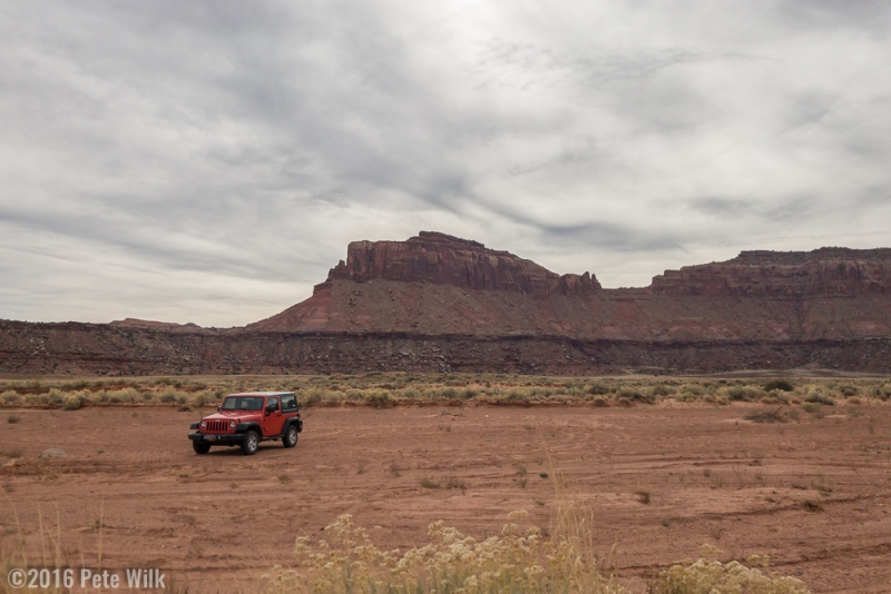 After some rough roads that the bone stock Jeep handled easily we started our approach.