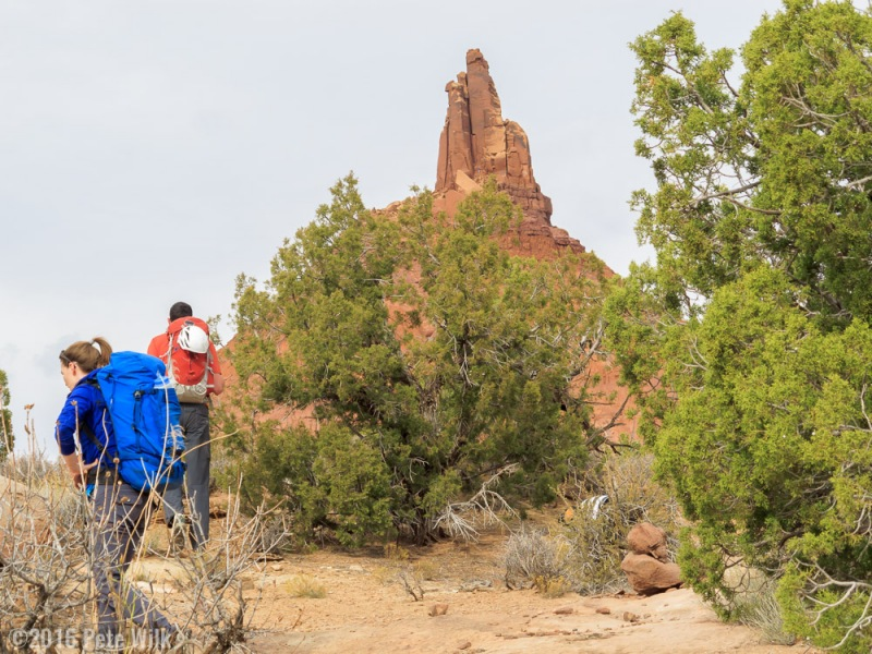 The South Sixshooter has one of the easier routes to the top of a desert tower.