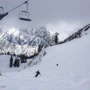 Late spring storm clearing in the Wasatch.  Fresh ungroomed powder turns top to bottom.