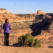 "Enjoying the \""Little Grand Canyon\"" view."