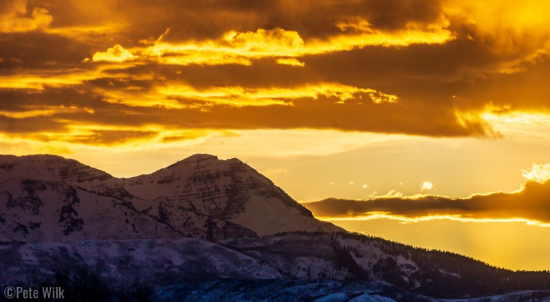 Awesome sunset on the drive back near Heber.