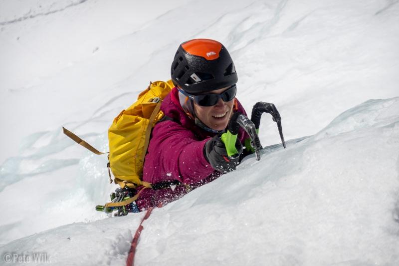 It isn't often that you get to ice climb in full sun.