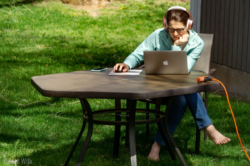 Working from home in the spring when you have a yard isn't so bad.