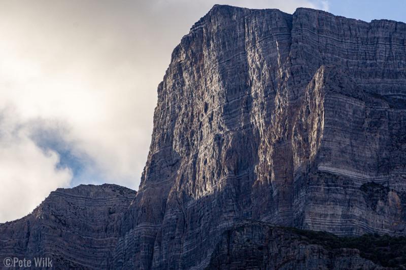 North face of Notch Peak at sunrise.