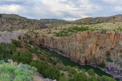 This canyon is at the end of a man-made lake which is in turn more or less in the middle of no place.