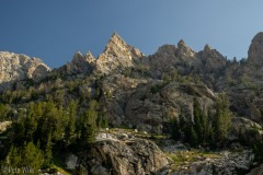 View of Irene's Arete from the Garnet Canyon trail.
