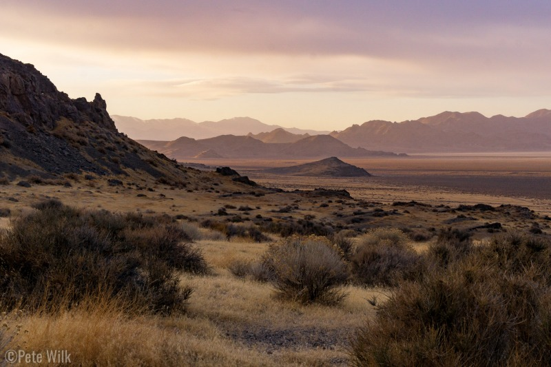 Very nice desert sunset light.