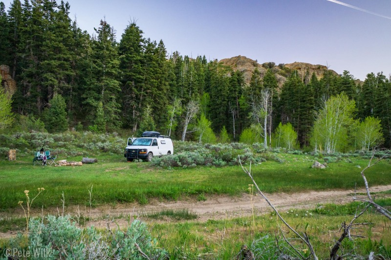 Sub-alpine camping at Maple Canyon was a nice change from down in the canyon.
