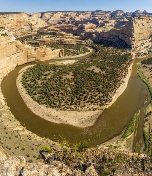 Harding Hole Overlook looking down at the Yampa River.