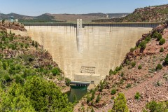 Flaming Gorge dam.  It is 455' from the bottom to top.
