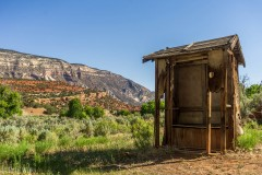 Outhouse with a view.  It was a two seater.