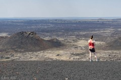 Good view out to the expanse of area that the lava seeped to the surface.  The lava fields cover about 400 square miles in three main flows.