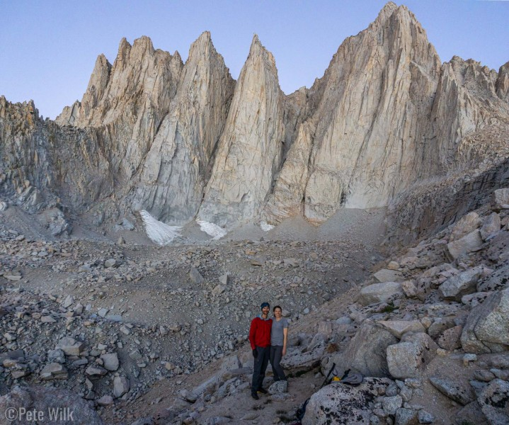 The Whitney group is absolutely staggering in its verticality and amount of rock.  The faces here are approximately 1000' toall.  Whitney on the right.