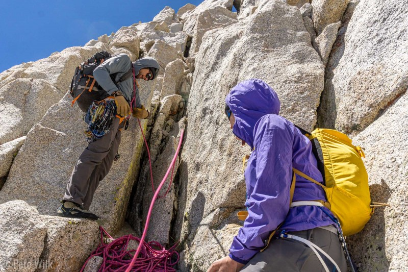 Getting ready for the last pitch to the summit.
