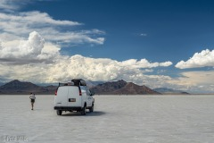 This section of the Salt Flats is near Bonneville Race Track.  You can drive on from a rest area on I-80.