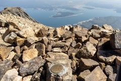 The climbing didn't lend itself to interesting shots so I didn't get any on route.  This is the summit benchmark.