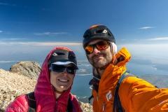 Summit selfie.  The smoke levels were minimal on summit day.