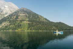 Looking back towards Mt. Moran.  Thankfully for both our kayak days it was calm on the lake.