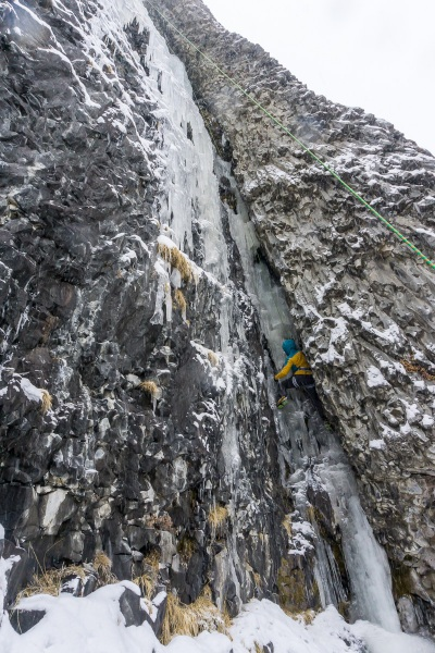 Lauren starting up a mostly ice Thrill is Gone (M4).